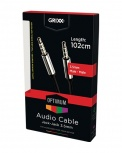Grixx Cable AUX 3.5mm Macho - 3.5mm Macho, 1 Metro, Plata