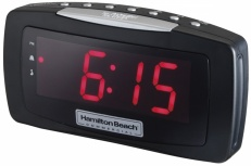 Hamilton Beach Radio Despertador HCR330, AM/FM, Negro
