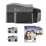 HID DT1250e, Kit de Impresora de Credenciales Doble Cara, 300 x 300DPI, USB 2.0, Negro/Gris
