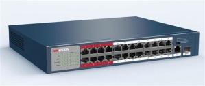 Switch Hikvision Digital Fast Ethernet DS-3E0326P-E/M, 25 Puertos 10/100Mbps + 1 Puerto SFP, 8.8Gbit/s, 4000 Entradas - No Administrable