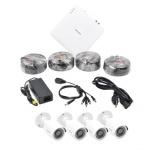 Hikvision Kit de Vigilancia HIK1080KIT8 de 4 Cámaras CCTV y 8 Canales, con Grabadora