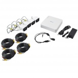 Hikvision Kit de Vigilancia KIT7204BP de 4 Cámaras CCTV Bullet y 4 Canales, con Grabadora