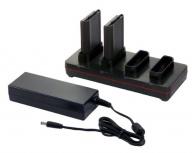 Honeywell Cargador de 4 Baterías CX80-QBC-UV-0, Negro, para Dolphin CX80