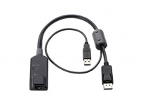 HPE Cable KVM AF654A, USB Macho -  Display Port Macho, Negro