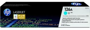 Tóner HP 126A Cyan, 1000 Páginas ― ¡Compre y reciba 5% del valor de este producto en saldo para su siguiente pedido!