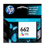 Cartucho HP 662 Tricolor, 100 Páginas ― ¡Compre y reciba 6% del valor de este producto en saldo para su siguiente pedido!