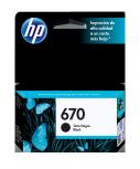Cartucho HP 670 Negro, 250 Páginas ― ¡Compre y reciba 6% del valor de este producto en saldo para su siguiente pedido!