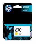 Cartucho HP 670 Amarillo, 300 Páginas ― ¡Compre y reciba $15 pesos de saldo para su siguiente pedido!
