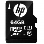 Memoria Flash HP HFUD064-1U1, 64GB MicroSD UHS-I Clase 10, con Adaptador