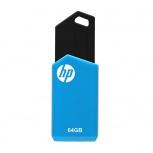 Memoria USB HP HPFD150W-64, 64GB, USB 2.0, Negro/Azul