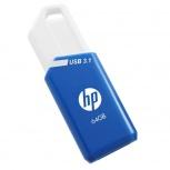 Memoria USB HP X755W, 64GB, USB 3.1, Azul/Blanco