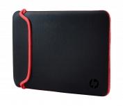 HP Maletín de Neopreno para Laptop 15.6'', Negro/Rojo