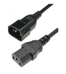 HPE Cable de Poder C14 Macho -C13 Hembra, 3 Metros, Negro