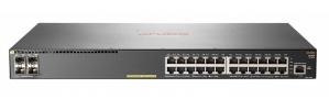 Switch HPE Gigabit Ethernet Aruba 2930F 24G PoE+ 4SFP, 24 Puertos 10/100/1000Mbps + 4 Puertos SFP, 56 Gbit/s, 32.768 Entradas - Gestionado