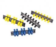 Ideal Módulo de 6 Adaptadores de Fibra Óptica ST Dúples Multimodo, Negro