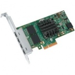 Intel Tarjeta de Red I350-T4V2, 1000 Mbit/s, PCI Express, 4x RJ-45