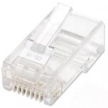 Intellinet Bote para Plug RJ-45 Cat5e UTP Sólido, Transparente, 100 Piezas