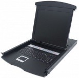 Intellinet Consola para Rack KVM 1U, Pantalla LCD 17'', 16 Puertos