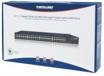 Switch Intellinet Gigabit Ethernet 561334, 48 Puertos 10/100/1000Mbps + 4 Puertos SFP, 104 Gbit/s, 8000 Entradas - Gestionado