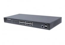 Switch Intellinet Gigabit Ethernet 561341, 16 Puertos 10/100/1000Mbps + 2 Puertos SFP, 36 Gbit/s, 8000 Entradas - Gestionado