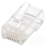 Intellinet Plugs Modulares RJ-45, Cate5e, Bote con 100 Piezas Transparentes