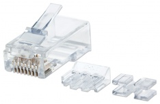 Intellinet Plug RJ-45 Cat6a UTP Sólido, Bote con 80 Piezas Transparentes