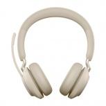 Jabra Audífonos Evolve2 65 MS Stereo, Inalámbrico, 1.2 Metros, Bluetooth, Beige