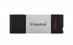 Memoria USB Kingston DataTraveler 80, 128GB, USB C 3.2, Negro/Plata