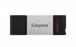 Memoria USB Kingston DataTraveler 80, 256GB, USB 3.2, Negro/Plata