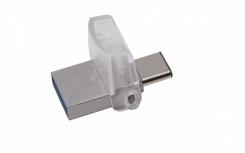 Memoria USB Kingston DataTraveler microDuo 3C, 32GB, USB 3.1/Micro USB, Lectura 100MB/s, Escritura 10MB/s, Plata
