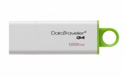 Memoria USB Kingston DataTraveler I G4, 128GB, USB 3.0, Verde/Blanco