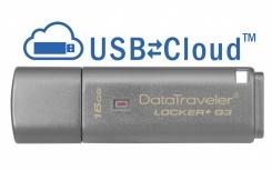 Memoria USB Kingston DataTraveler Locker+ G3, 16GB, USB 3.0, Plata