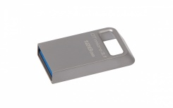 Memoria USB Kingston DataTraveler Micro 3.1, 128GB, USB 3.1, Lectura 100MB/s, Escritura 15MB/s, Metálico