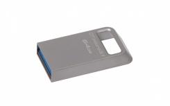 Memoria USB Kingston DataTraveler Micro 3.1, 64GB, USB 3.1, Lectura 100MB/s, Escritura 15MB/s, Metálico