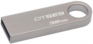Memoria USB Kingston DataTraveler SE9, 32GB, USB 2.0, Gris
