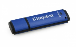 Memoria USB Kingston DataTraveler Vault Privacy, 64GB, USB 3.0, Encriptación de 256 bits, Azul