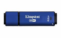 Memoria USB Kingston DataTraveler Vault Privacy Anti-Virus, 64GB, USB 3.0, Encriptación de 256 bits, Azul - para Mac/PC