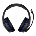 HyperX Audífonos Gamer Cloud Stinger Gaming para PS4, Inalámbrico, USB, Negro/Azul