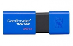 Memoria USB Kingston DataTraveler 100 G3, 32GB, USB 3.2 A, Azul