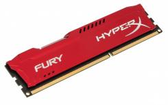 Memoria RAM Kingston FURY Beast Red DDR3, 1600MHz, 4GB, Non-ECC, CL10