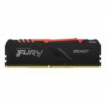 Memoria RAM Kingston FURY Beast RGB DDR4, 3200MHz, 16GB, Non-ECC, CL16, XMP ― ¡Compra y participa para ganar 1 Kit Oficial Kingston FURY!