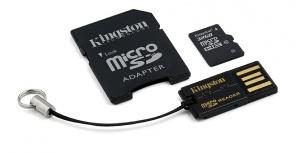 Kingston 32GB Multi Kit / Mobility Kit Class10, incl. Tarjeta microSDHC con Adaptadores SD y USB