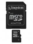 Memoria Flash Kingston, 32GB microSDHC Clase 4, con Adaptador