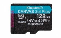 Memoria Flash Kingston Canvas Go! Plus, 128GB MicroSD UHS-I Class 3 (U3)