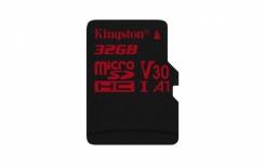 Memoria Flash Kingston Canvas React, 32GB MicroSDHC UHS-I Clase 10