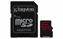 Memoria Flash Kingston Canvas React, 512GB MicroSDHC UHS-I Clase 10, con Adaptador