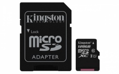 Memoria Flash Kingston Canvas Select, 128GB MicroSD UHS-I Clase 10, con Adaptador