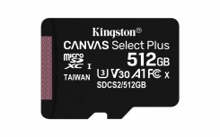 Memoria Flash Kingston Canvas Select Plus, 512GB MicroSDHC UHS-I Clase 10, con Adaptador