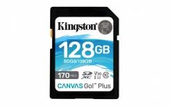 Memoria Flash Kingston Canvas Go! Plus, 128GB SD UHS-I Clase 10