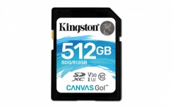 Memoria Flash Kingston Canvas Go!, 512GB SDXC UHS-I Clase 10